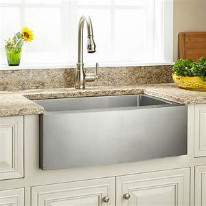 27quot Optimum Stainless Steel Farmhouse Sink Curved Apron