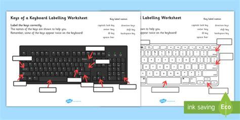 Keys Of A Keyboard Labelling Worksheet