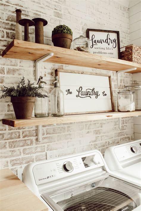 diy faux brick wall  laundry room faux brick walls
