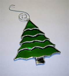 stained glass tree ornament
