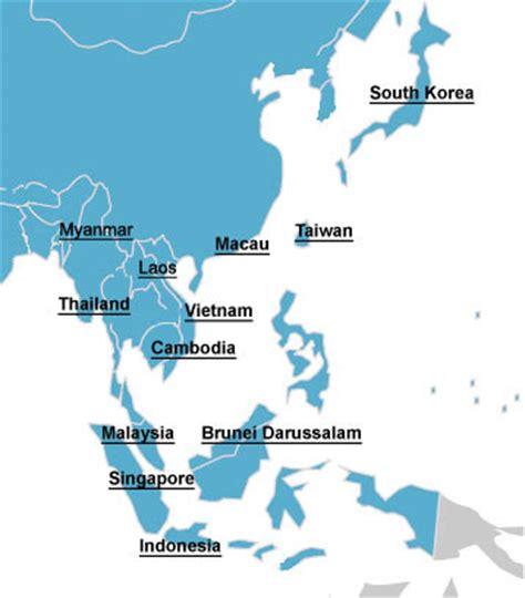 malaysia singapore brunei thailand indonesia taiwan
