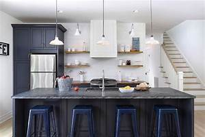 Soapstone with Navy Blue or black cabinets – Homchick