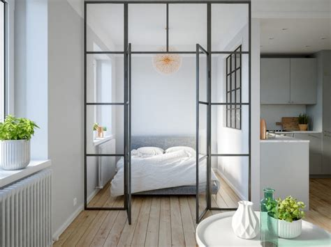6 Sleek Studios With Glass Walled Bedrooms : Interior Design Ideas
