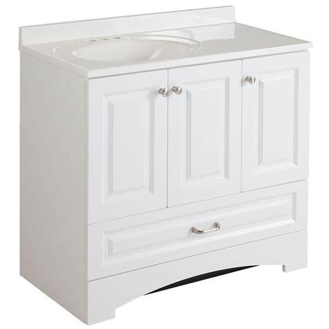 kitchen sink cabinets glacier bay bathroom lancaster 36 in vanity in white with 2602