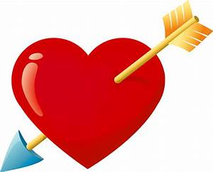 Heart With Arrow Clip Art - Cliparts.co