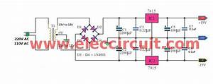 Three Dual 15v Power Supply Schematic   15v