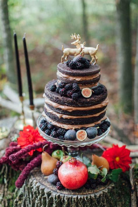 yummy rustic berry wedding cakes deer pearl flowers