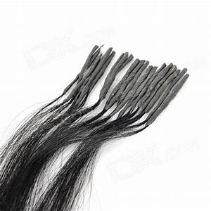 Real Human Straight Fusion Hair Extensions Black 65cm
