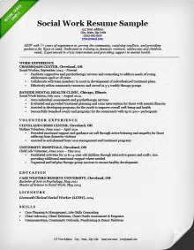 resumes that work social work resume sle writing guide resume genius