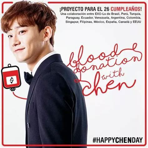 Proyecto De Cumpleaños Blood Donation With Chen