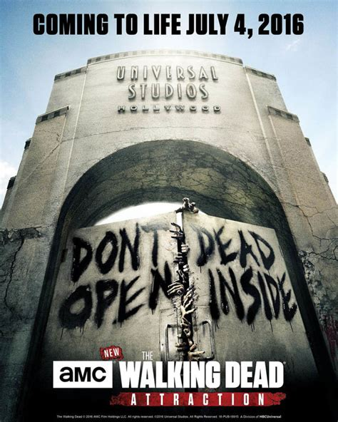 Response from universalhollywood, guest communications at universal studios hollywood. The Walking Dead Attraction teaser and poster released