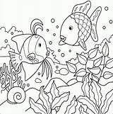 Coloring Tropical Pages Fish Realistic Popular sketch template
