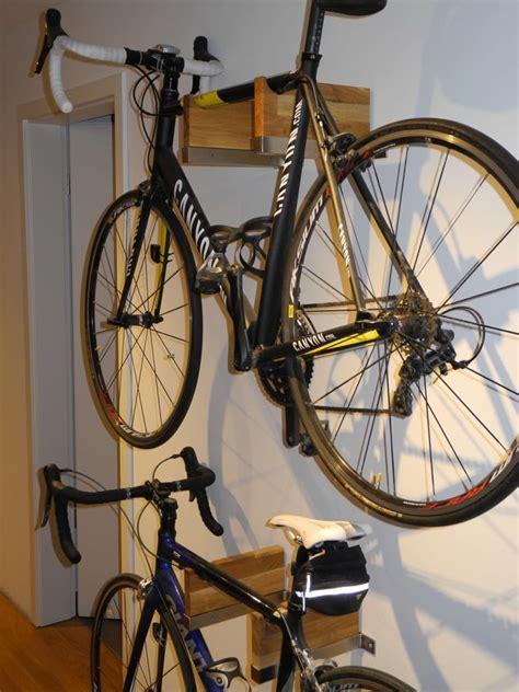 bicycle rack  gorgeous wood  steel combo ikea hackers