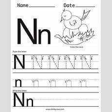 Pin By Christy Bush On Primary  Letter N Worksheet, Free Handwriting Worksheets, Letter Worksheets