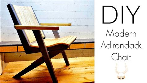 diy modern adirondack chairs woodworking project youtube