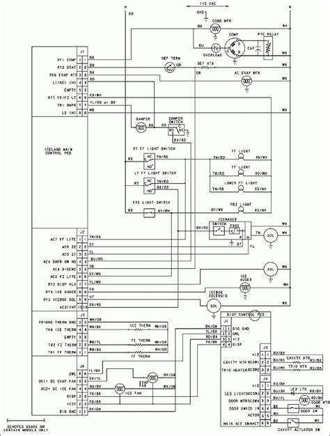 pss ge refrigerator wiring diagram wiring diagram