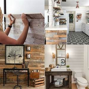 Shiplap wall and pallet wall 30 beautiful diy wood wall for Putting a tv in the bathroom