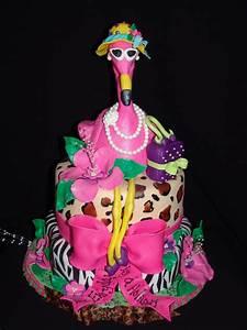 "Fancy ""retirement"" Pink Flamingo Cake! - CakeCentral com"