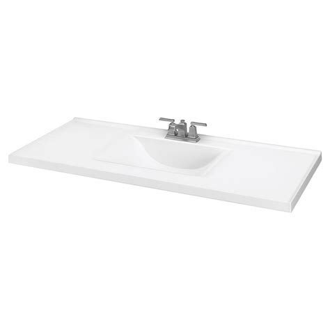 43 vanity top with offset sink shop white cultured marble integral bathroom vanity top
