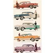 1956 GM Line Of Cars  Chevrolet Pontiac Oldsmobile