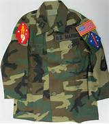 Woodland Camo Jacket with Marine Patches Sewn On - Kids  Marine Camo Uniform