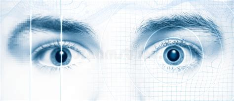 Human Eyes Digital Hi-tech Style Royalty Free Stock Photo