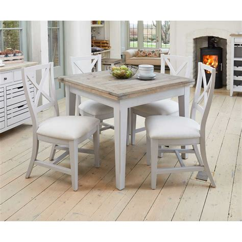 grey painted cm square extending kitchen dining table
