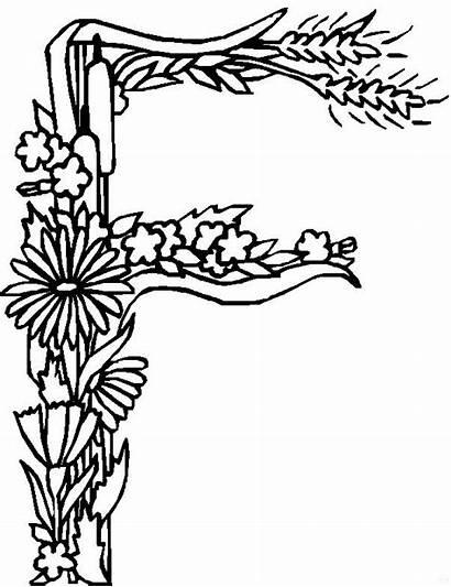 Coloring Alphabet Pages Flowers Fun Kleurplaat Flower