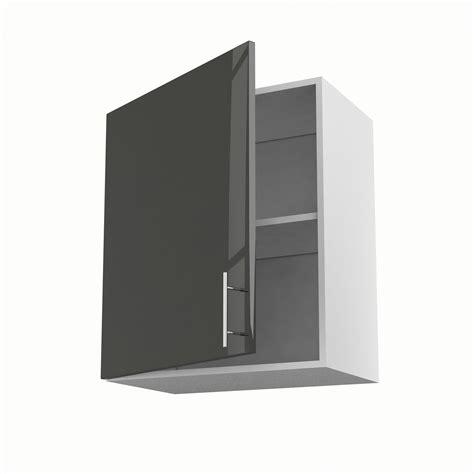 meuble de cuisine haut gris 1 porte h 70 x l 60 x p 35 cm leroy merlin