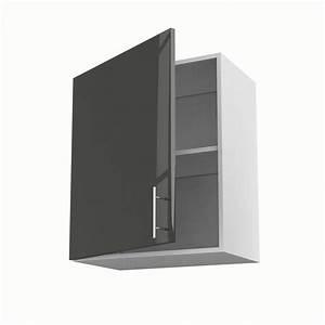 Meuble Cuisine Leroy Merlin : meuble de cuisine haut gris 1 porte rio x x ~ Melissatoandfro.com Idées de Décoration