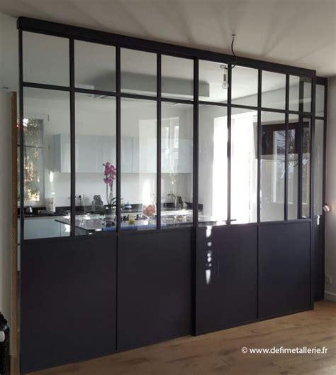porte battante cuisine defi métallerie conception de vérandas et de verrières d
