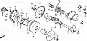 Honda Motorcycle 1982 Oem Parts Diagram For Drive Face