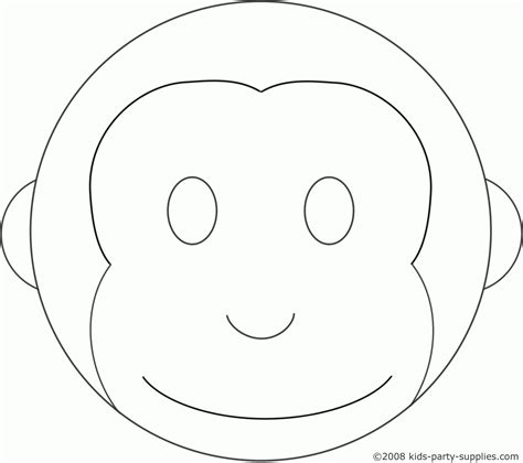 Monkey Birthday Cake Template cupcake outline cake ideas and designs