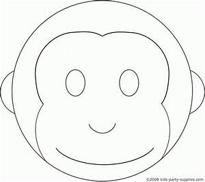 Cute cupcake outline cake ideas and designs for Monkey face template for cake