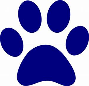 Dark Blue Paw Print Md   Free Images at Clker.com - vector ...