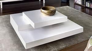 Table Laquee Blanc : temahome slate table basse design blanc mate ~ Premium-room.com Idées de Décoration