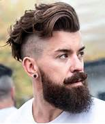 side cut and full beard hipster haircut the haircut features a side      Hipster Guy Haircuts