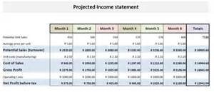 Restaurant Income Statement Template Excel Financial Statement Projection Templates In Excel Project Management Certification