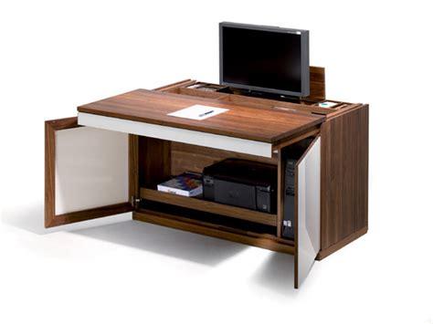 bureau pc intégré secrètaire avec écran intégré relevable meubles lagrange