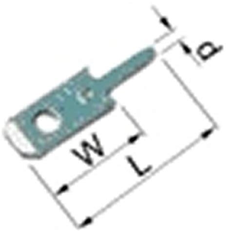 unisolierte flachstecker crimpen elpress flachstecker unisoliert 12610 zum l 246 ten 2 8 x 0 8 100 st 252 ck