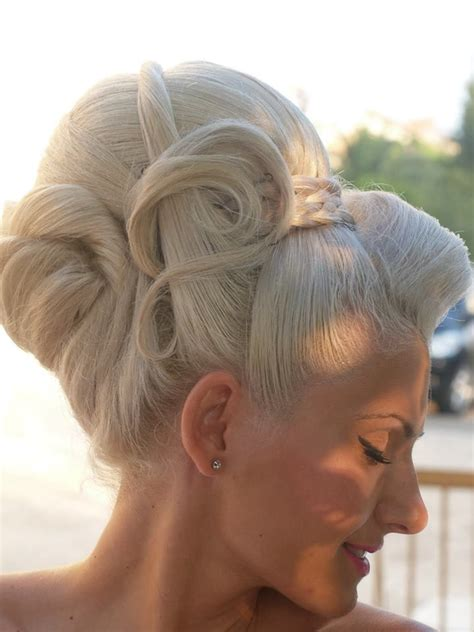 cool platinum updo dolled up style pinterest updo