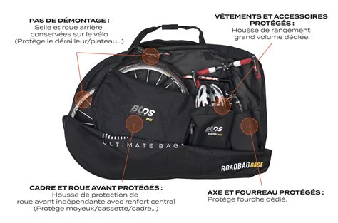 housse transport velo route ouverte texte buds sports roadbag race buds sports