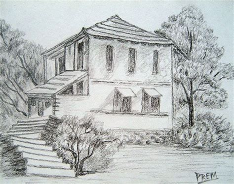 easy landscaping drawings simple pencil drawings of houses simple house landscape sketch drawing pinterest