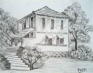+real sketched drawings | This above house is a simple one ...