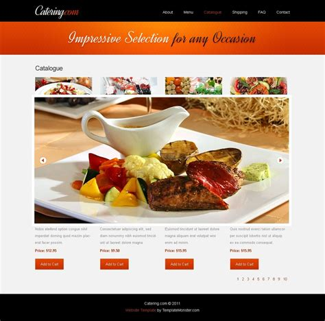 web cuisine free website template for food delivery