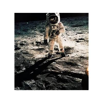 Neil Armstrong Buzz Aldrin On the Moon and a Picture Real