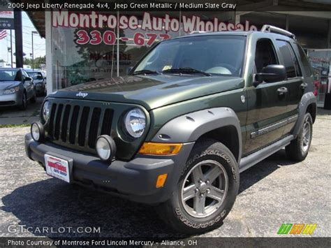 green jeep liberty renegade jeep green metallic 2006 jeep liberty renegade 4x4