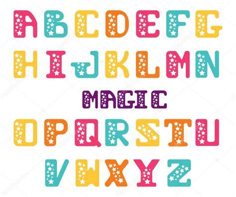 alfabeto de letras may 250 sculas con las estrellas fuente de serif estrellas conjunto de letras