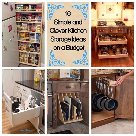 16 simple and clever kitchen storage ideas on a budget