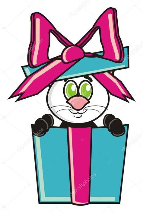 gato gatito animal pet dibujos animados caja de regalo cinta lazo cumplea 241 os de
